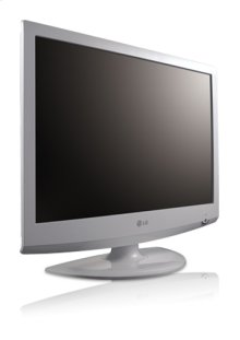 "19"" Class Piano White LCD HDTV (22.0"" diagonal)"