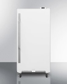 Commercially Approved Frost-free All-refrigerator With Digital Thermostat, Casters, Right Hand Door Swing, and Lock\n