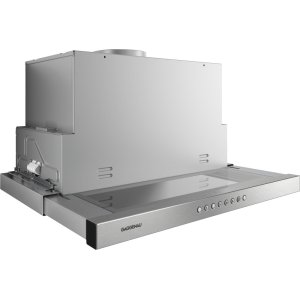 Gaggenau200 series 200 series Visor hood Stainless steel handle bar Air recirculation with 400 series AR410710 or AR413722 blowers.