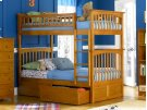 Columbia Bunk Bed Twin over Twin with Urban Bed Drawers in Caramel Latte Product Image
