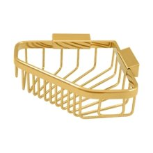 "Wire Basket 8-1/4""x 6-7/8"" Pentagon - PVD Polished Brass"