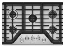 30'' 5-Burner Gas Cooktop - Stainless Steel