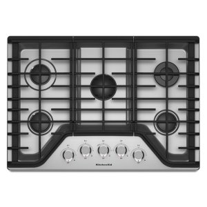 KITCHENAID30'' 5-Burner Gas Cooktop - Stainless Steel