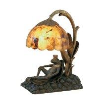 BRASS FROG PRINCE LAMP