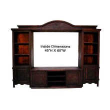 Dark 4pc Entertainment Center (dark Finish)
