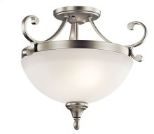 Monroe 2 Light Semi Flush Brushed Nickel