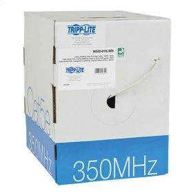 Cat5e 350 MHz Bulk Solid-Core PVC Cable, White, 1000 ft., TAA