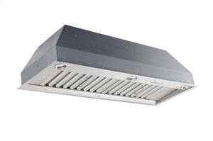"36-1/2"" Stainless Steel Built-In Range Hood for use with External Blower Options"
