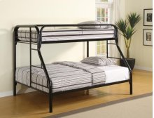 Twin / Full Metal Bunkbed Black