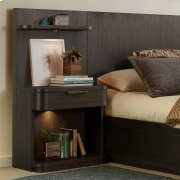 Precision - Low Pier Nightstand - Umber Finish Product Image