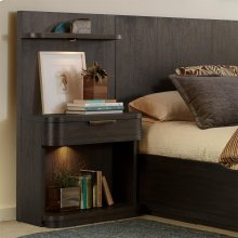 Precision - Low Pier Nightstand - Umber Finish
