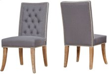 Garrett Grey Linen Dining Chair (Set of 2)