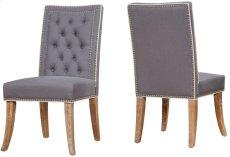Garrett Grey Linen Dining Chair (Set of 2) Product Image