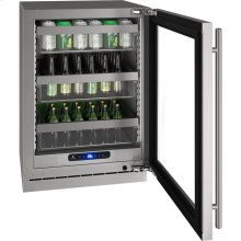 """5 Class 24"""" Refrigerator With Stainless Frame Finish and Field Reversible Door Swing (115 Volts / 60 Hz)"""