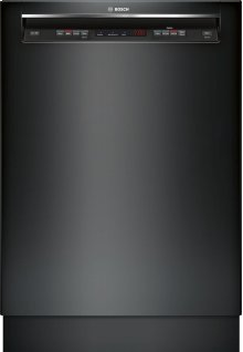 """24"""" Recessed Handle Dishwasher 300 Series- Black SHE53T56UC"""