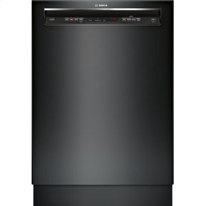 "Bosch24"" Recessed Handle Dishwasher 300 Series- Black SHE53T56UC"