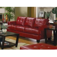 Samuel Transitional Red Sofa Product Image