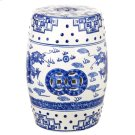 Dragon's Breath Chinoiserie Garden Stool - Blue Product Image