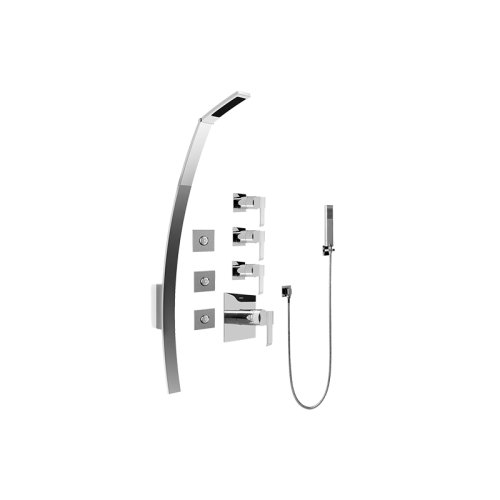 Luna Thermostatic Shower Set w/ Body Sprays & Handshower (Rough & Trim)