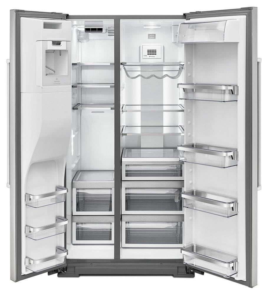 KRSF505ESS KitchenAid 24 8 Cu  Ft  Standard Depth Side-by