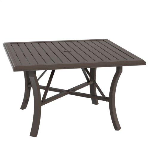 """Banchetto 48"""" Square KD Dining Umbrella Table"""