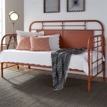 Twin Metal Day Bed - Orange