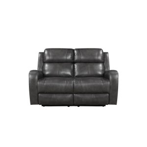 Leather Italia Usa E71317 Cortana Pwr Loveseat 177066lv Grey