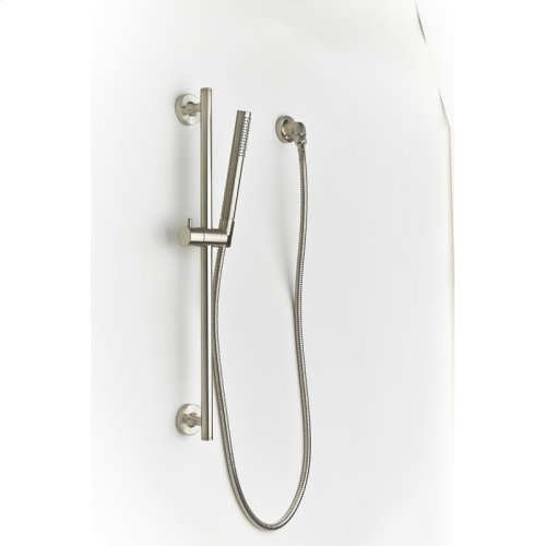 Slide Bar With Hand Shower Taos Series 17 Satin Nickel