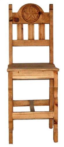 "26"" Wood Seat Star Barstool"