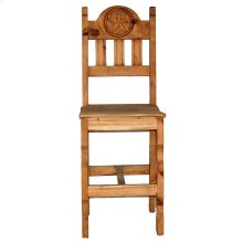 "26"" Wood Seat Star Barstool"
