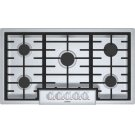 """Benchmark 36"""" Gas Cooktop, 5 Burners, Stainless Steel Product Image"""