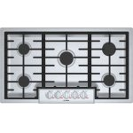 "Bosch BenchmarkBenchmark 36"" Gas Cooktop, 5 Burners, Stainless Steel"