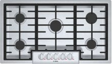 "Benchmark 36"" Gas Cooktop, 5 Burners, Stainless Steel"