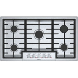 "Bosch BenchmarkBENCHMARK SERIESBenchmark 36"" Gas Cooktop, 5 Burners, Stainless Steel"