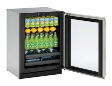 """Modular 3000 Series 24"""" Beverage Center With Stainless Frame (lock) Finish and Left-hand Hinged Door Swing"""