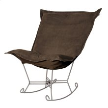 Scroll Puff Rocker Bella Chocolate Titanium Frame