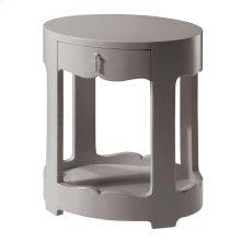 Brigitte 1-Drawer Side Table, Gray