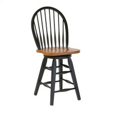 "ST.MICHAEL 24"" Hardwood Swivel Barstool"