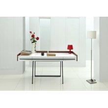 Nova Domus Branton Contemporary White & Walnut Office Desk
