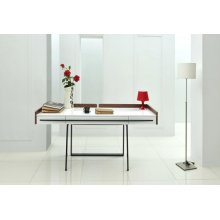 Nova Domus Branton Contemporary White & Walnut Office Desk