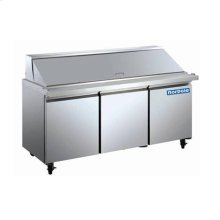 3 Door Stainless Steel Mega Top Sandwich/Salad Prep Table