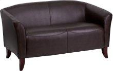 HERCULES Imperial Series Brown Leather Loveseat