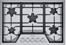 "30"" 5 Burner Gas Cooktop, SS"