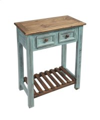 Console - Distressed Turquoise Finish Product Image