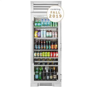 True Residential30 Inch Stainless Glass Beverage Center - Left Hinge Stainless Glass