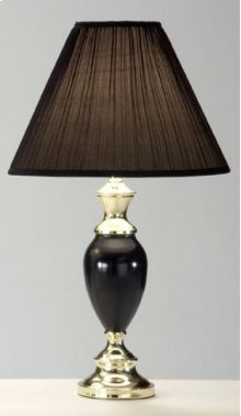 Black / Brass Vase Lamp