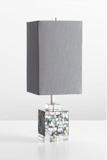 Johor Table Lamp Silver - Grey - Smoke