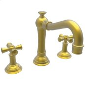 Satin-Bronze-PVD Widespread Lavatory Faucet