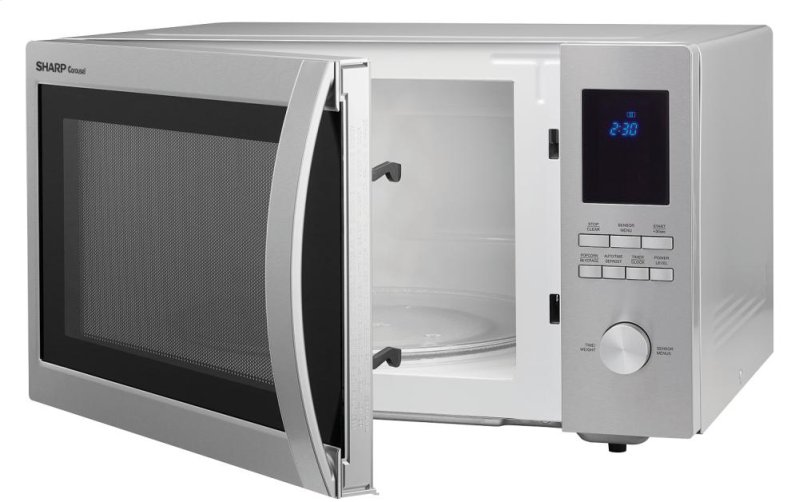 Hidden Additional 1 6 Cu Ft 1100w Sharp Stainless Steel Carousel Countertop Microwave Oven Smc1655bs