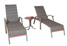 Island Cove Woven 3 PC Chaise Lounge set